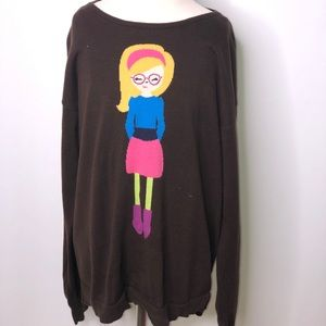 Hanna Andersson pullover sweater girls glasses